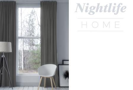 Nightlife Home verduisterende gordijnen | Kant & klaar in maar liefst 6 kleuren Donkergrijs