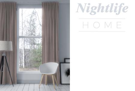 Nightlife Home verduisterende gordijnen | Kant & klaar in maar liefst 6 kleuren Taupe