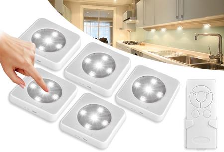 5-pack draadloze oplaadbare LED spots
