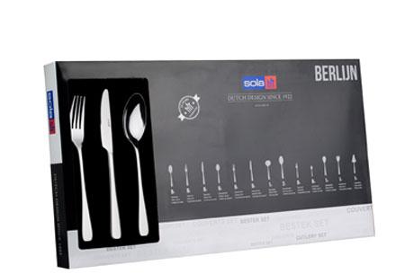 Sola bestekset Ibiza, Berlijn, Monique, Sevilla of Bolero 39-delig of 70-delig | Topkwaliteit bestek in de aanbieding Berlijn 70-delig