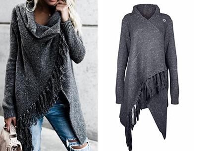 Knitted Tassel vest | Dé musthave die je keer op keer weer uit de kast trekt  Donkergrijs