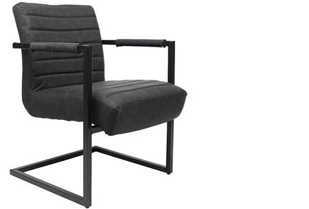 Fauteuil Kensington of Bentley | Luxe stoelen met een strak industrieel ontwerp Bentley zwart