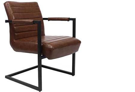 Fauteuil Kensington of Bentley | Luxe stoelen met een strak industrieel ontwerp Bentley bruin