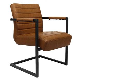 Fauteuil Kensington of Bentley | Luxe stoelen met een strak industrieel ontwerp Bentley cognac