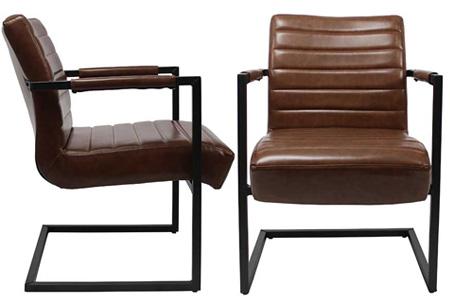 Fauteuil Kensington of Bentley | Luxe stoelen met een strak industrieel ontwerp