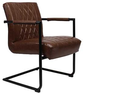 Fauteuil Kensington of Bentley | Luxe stoelen met een strak industrieel ontwerp Kensington bruin