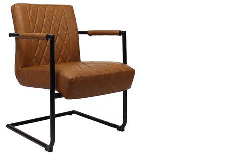 Fauteuil Kensington of Bentley | Luxe stoelen met een strak industrieel ontwerp Kensington cognac