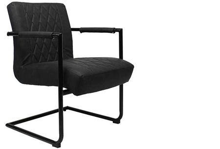 Fauteuil Kensington of Bentley | Luxe stoelen met een strak industrieel ontwerp Kensington zwart