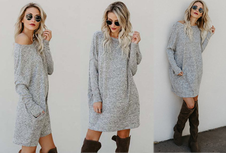 Soft sweater dress | Comfortabel & stijlvol grijs