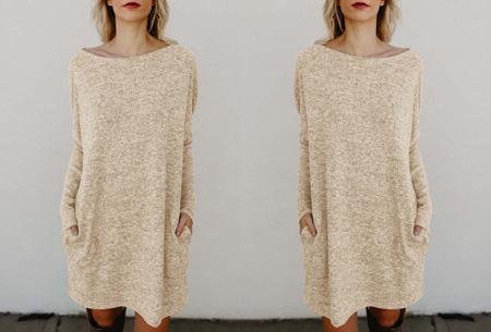 Soft sweater dress | Comfortabel & stijlvol khaki