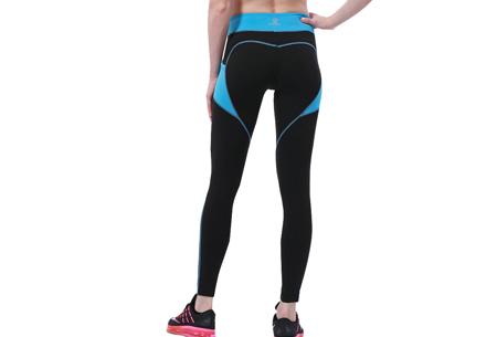 Heart shaped sportlegging | Liftend effect & handige steekzakken  zwart/blauw