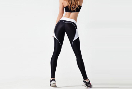 Heart shaped sportlegging Maat XL - Zwart/wit