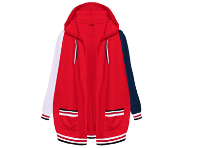 Duocolor dames vest | Kleurrijk vest voor in jouw garderobe  Rood