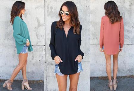 Elegance blouse   Lang & oversized model voor een stijlvolle look