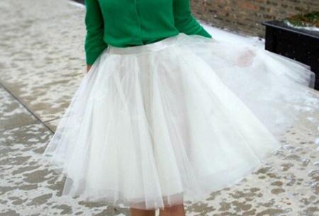 Petticoat rok | Doe mee met de nieuwe fashion trend!  Wit