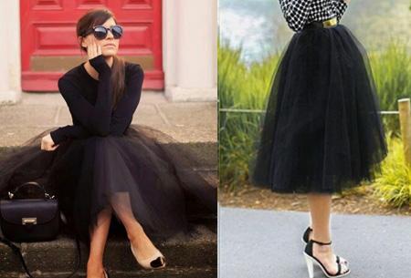 Petticoat rok | Doe mee met de nieuwe fashion trend!  zwart