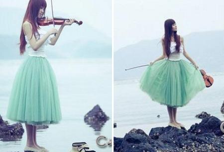 Mintgroen - Petticoat rok