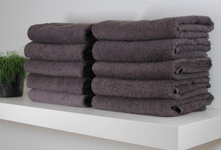 3-pack handdoeken of badhanddoeken 100% katoen hotelkwaliteit | Met oplopende korting! Antraciet