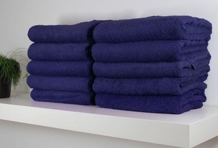 3-pack handdoeken of badhanddoeken 100% katoen hotelkwaliteit | Met oplopende korting! Donkerblauw