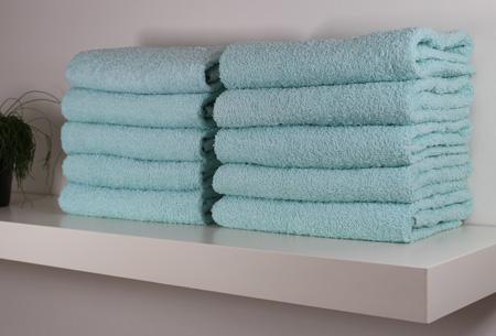 3-pack handdoeken of badhanddoeken 100% katoen hotelkwaliteit | Met oplopende korting! Licht aqua