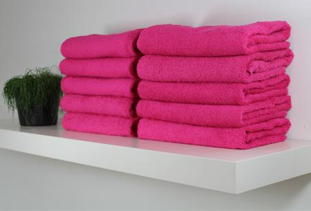 Handdoeken of badhanddoeken 100% katoen hotelkwaliteit | 3-pack | Met oplopende korting! Roze