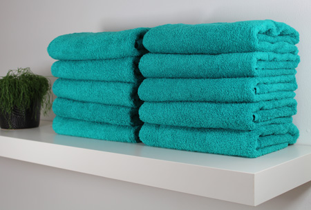 3-pack handdoeken of badhanddoeken 100% katoen hotelkwaliteit | Met oplopende korting! Spring green