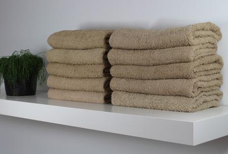 3-pack handdoeken of badhanddoeken 100% katoen hotelkwaliteit | Met oplopende korting! Taupe