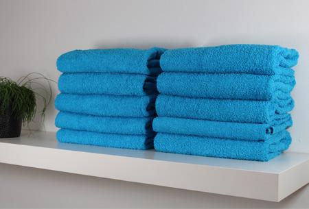 Handdoeken of badhanddoeken 100% katoen hotelkwaliteit | 3-pack | Met oplopende korting! Turquoise