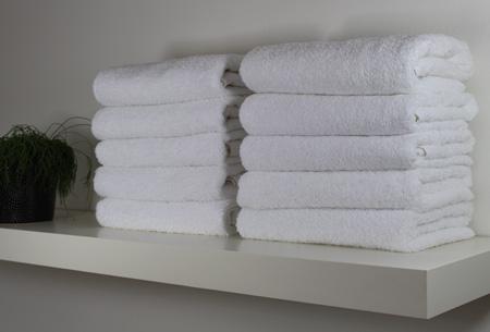 Handdoeken en badhanddoeken hotelkwaliteit 100% katoen | 3-pack | Met oplopende korting! Wit