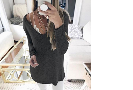 Spring sweater | Basic musthave voor een hippe voorjaarslook! zwart