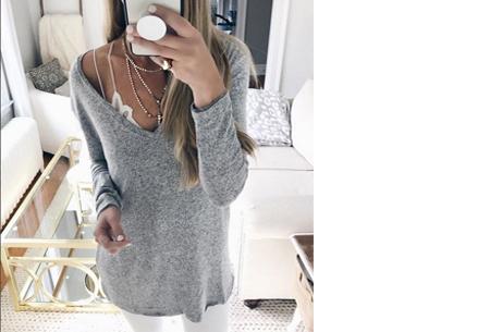 Spring sweater Maat XL (NL maat XS) - Grijs