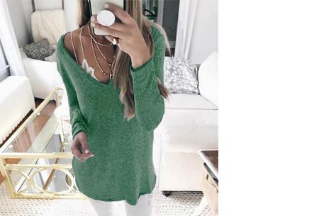Spring sweater - Maat L - Groen