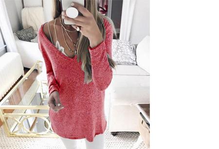 Spring sweater | Basic musthave voor een hippe voorjaarslook! rood