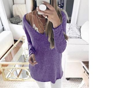 Spring sweater | Basic musthave voor een hippe voorjaarslook! paars