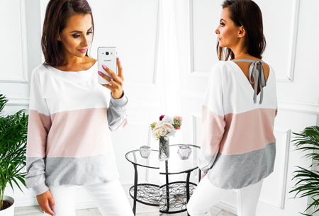 Ribbon sweater | Voor een fashionable look  roze