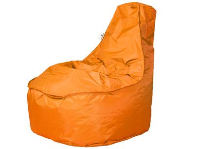 Drop & Sit NOA zitzak stoel | Keuze uit 2 formaten en 18 kleuren Oranje