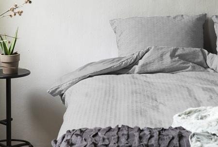 Hotelkwaliteit dekbedovertrekken | Washed linnen look voor een luxe uitstraling Grijs