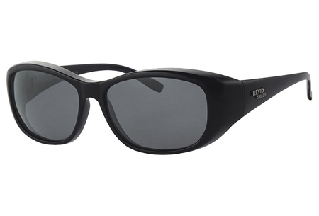 Revex overzetzonnebril | Ideaal voor brildragers  zwart