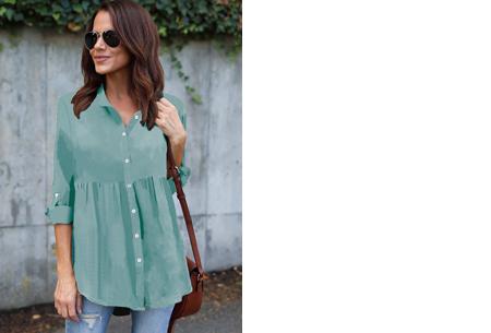 Peplum blouse | Helemaal on trend & voor elk figuur! mintgroen