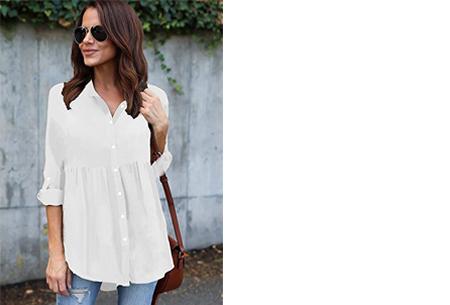 Peplum blouse | Helemaal on trend & voor elk figuur! wit