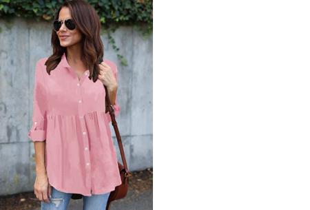 Peplum blouse | Helemaal on trend & voor elk figuur! roze