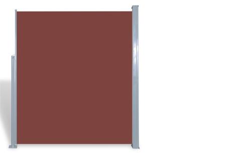 Uitschuifbaar wind- en zonnescherm 160 of 180 x 300 of 600 cm   Ideaal voor tuin of balkon Bruin