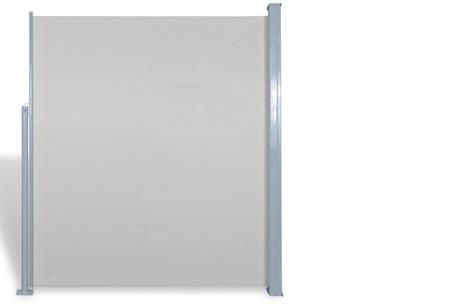 Uitschuifbaar wind- en zonnescherm 160 of 180 x 300 of 600 cm   Ideaal voor tuin of balkon Crème
