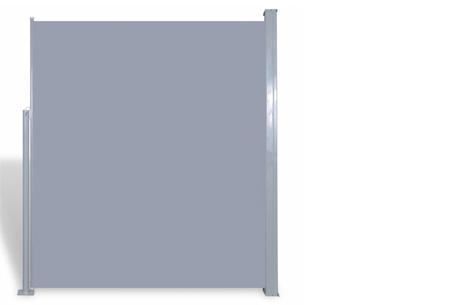 Uitschuifbaar wind- en zonnescherm 160 of 180 x 300 of 600 cm   Ideaal voor tuin of balkon Grijs