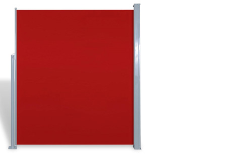 Uitschuifbaar wind- en zonnescherm 160 of 180 x 300 of 600 cm   Ideaal voor tuin of balkon Rood