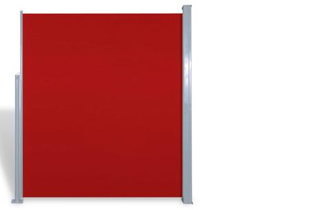 Oprolbaar windscherm 160 of 180 x 300 of 600 cm | Ideaal voor tuin of balkon Rood