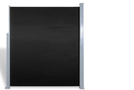 Oprolbaar windscherm 160 of 180 x 300 of 600 cm | Ideaal voor tuin of balkon Zwart