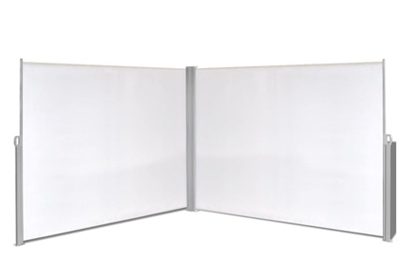 Oprolbaar windscherm 160 of 180 x 300 of 600 cm | Ideaal voor tuin of balkon Crème dubbel