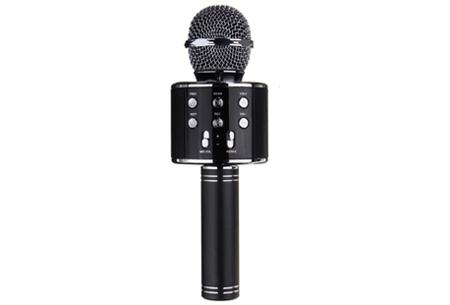 Karaoke microfoon | Draadloos & geschikt voor heel veel zangplezier  zwart