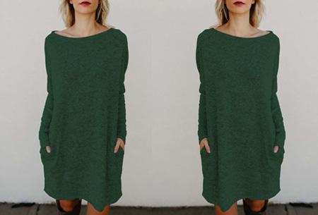 Soft sweater dress | Comfortabel & stijlvol groen